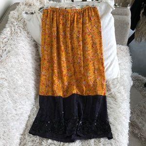 Anthropologie Maeve beaded skirt